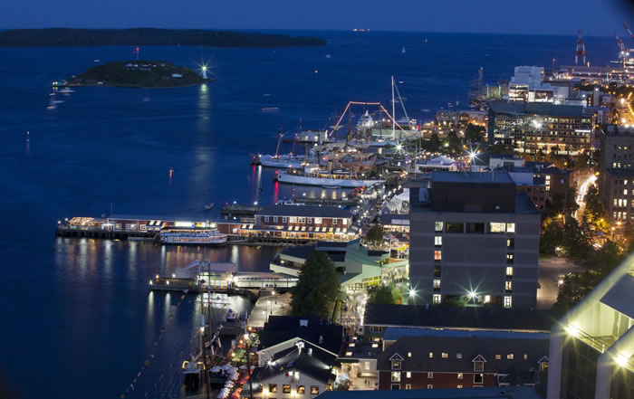 Top 10 Things You Need to Know About Tidal Energy in Nova Scotia - Tall ships in Halifax harbour at night